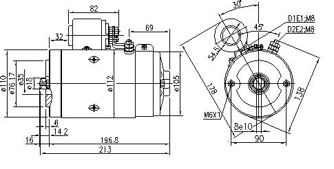 Электродвигатель AMJ5778 (MM 270, 11.216.516, IMM306516) - схема