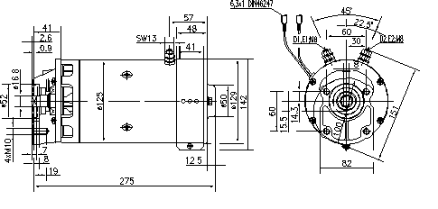 Электродвигатель AMK5543 (MM 217, 11.216.577, IMM306577) - схема