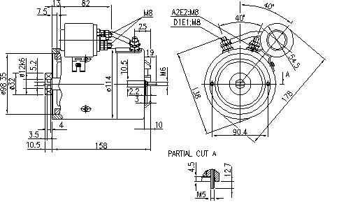 Электродвигатель AMJ5784 (MM 124, 11.216.560, IMM306560) - схема