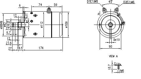 Электродвигатель AMJ5124 (MM 275, 11.212.557, IMM302557) - схема