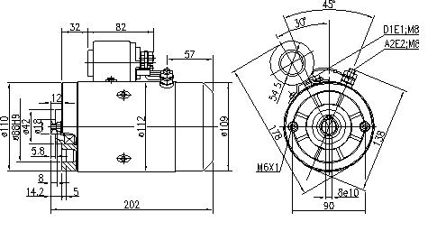 Электродвигатель AMJ5787 (MM 330, 11.216.572, IMM306572) - схема