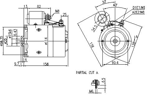 Электродвигатель AMJ5790 (MM 216, 11.216.575, IMM306575) - схема