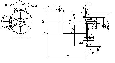 Электродвигатель AMK5544 (IM0263) - схема