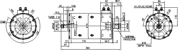 Электродвигатель AMP4321 (MM 214, 11.216.533, IMM306533) - схема