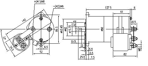 Электродвигатель AME1109 (MM 267, 11.216.622, IMM306622) - схема