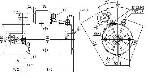 Электродвигатель AMJ5798 (MM 268, 11.216.623, IMM306623) - схема