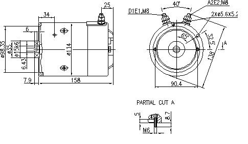 Электродвигатель AMJ5803 (IM0270) - схема