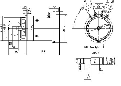 Электродвигатель AMK2615 (MM 120, 11.216.375, IMM306375) - схема