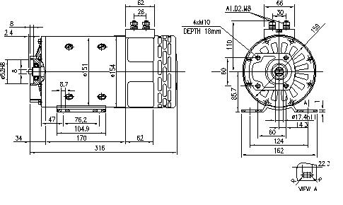 Электродвигатель AMP4530 (IM0272) - схема
