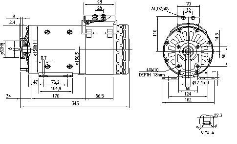 Электродвигатель AMP4531 (MM 110, 11.216.596, IMM306596) - схема