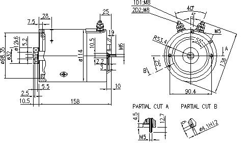 Электродвигатель AMJ4820 (11.216.972, IMM306972) - схема