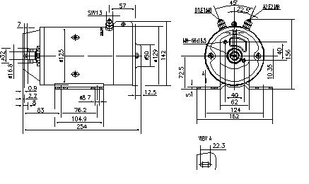 Электродвигатель AMK5549 (MM 269, 11.216.624, IMM306624) - схема