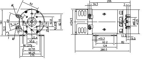Электродвигатель AMK4661 (MM 290, 11.216.589, IMM306589) - схема