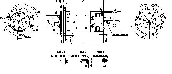 Электродвигатель AMK2629 (MM 72, 11.216.663, IMM306663) - схема