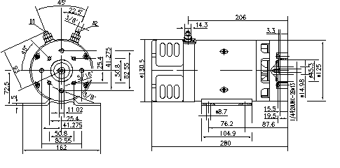Электродвигатель AMK4635 (MM 288, 11.216.130, IMM306130) - схема
