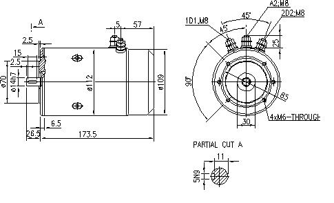 Электродвигатель AMJ4541 (MM 146, 11.216.702, IMM306702) - схема
