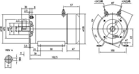 Электродвигатель AMG1641 (MM 238, 11.216.263, IMM306263) - схема
