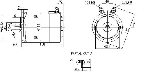 Электродвигатель AMJ4526 (MM 260, 11.216.679, IMM306679) - схема