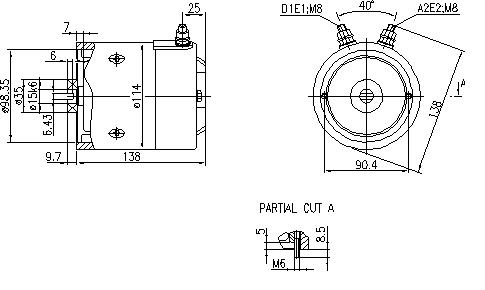 Электродвигатель AMJ5818 (IM0298) - схема