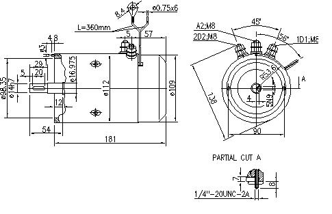 Электродвигатель AMJ4548 (MM 102, 11.216.723, IMM306723) - схема