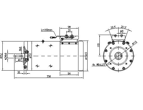 Электродвигатель AMP5617 (MM 38, 11.216.754, IMM306754) - схема