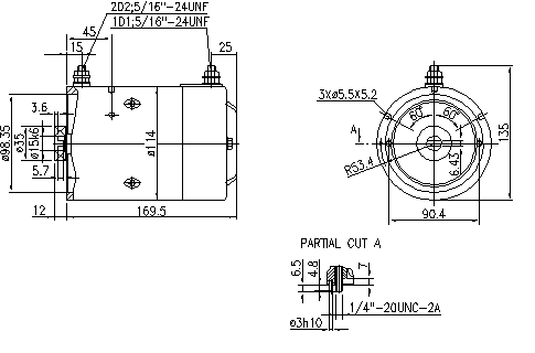 Электродвигатель AMJ4573 (MM 25, 11.216.783, IMM306783) - схема