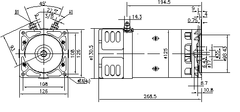 Электродвигатель AMK4678 (MM 24, 11.216.781, IMM306781) - схема