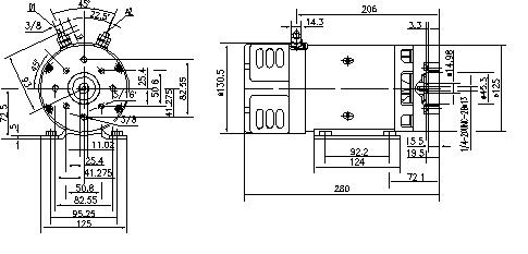 Электродвигатель AMK4679 (MM 29, 11.216.788, IMM306788) - схема