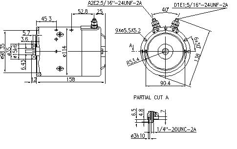 Электродвигатель AMJ5833 (MM 28, 11.216.787, IMM306787) - схема