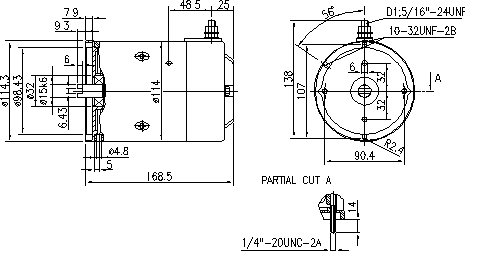 Электродвигатель AMJ4576 (MM 30, 11.216.789, IMM306789) - схема