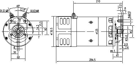 Электродвигатель AMK5554 (MM 35, 11.216.776, IMM306776) - схема