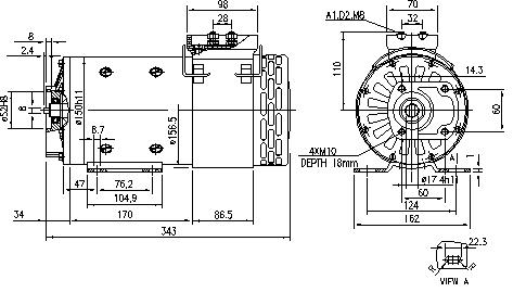 Электродвигатель AMP5618 (MM 21, 11.216.823, IMM306823) - схема