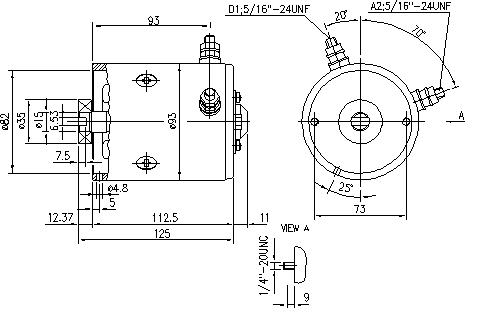 Электродвигатель AMF4684 (MM 323, 11.216.841, IMM306841) - схема