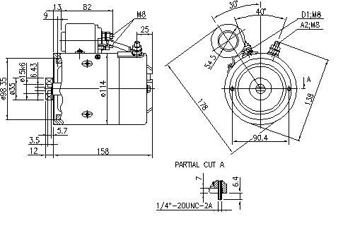Электродвигатель AMJ4707 (MM 297, 11.212.896, IMM302896) - схема