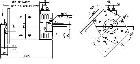 Электродвигатель AMP4507 (MM 342, 11.212.808, IMM302808) - схема