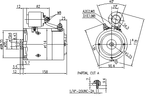 Электродвигатель AMJ5863 (MM 317, 11.216.904, IMM306904) - схема