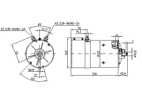 Электродвигатель AMK4673 (11.216.719, IMM306719) - схема
