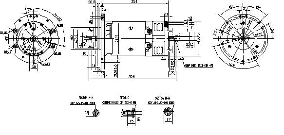 Электродвигатель AMK4684 (MM 12, 11.216.831, IMM306831) - схема