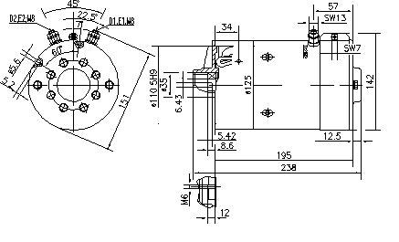 Электродвигатель AMK5542 (MM 320, 11.216.552, IMM306552) - схема