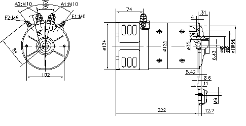 Электродвигатель AMK2635 (MM 243, 11.216.918, IMM306918) - схема