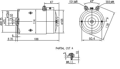 Электродвигатель AMJ4811 (MM 242, 11.216.917, IMM306917) - схема