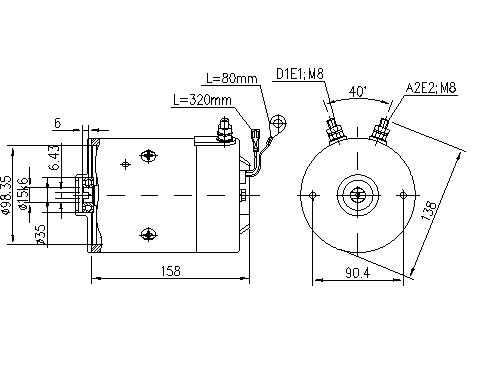 Электродвигатель AMJ5866 (MM 96, 11.216.914, IMM306914) - схема