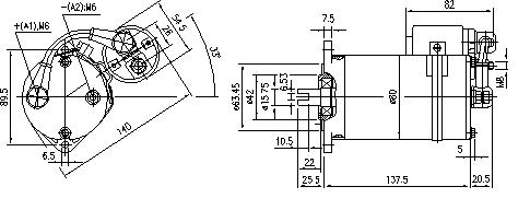 Электродвигатель AME1149 (MM 51, 11.216.911, IMM306911) - схема