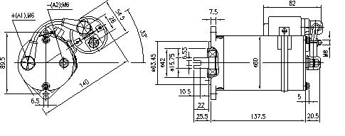 Электродвигатель AME1150 (MM 50, 11.216.912, IMM306912) - схема