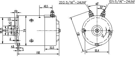 Электродвигатель AMJ4810 (MM 46, 11.216.903, IMM306903) - схема