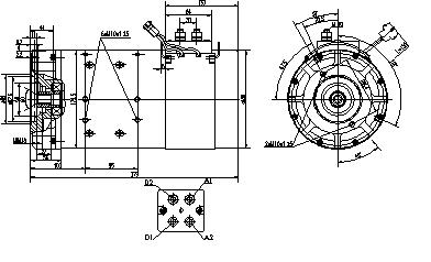 Электродвигатель AMT4650 (MM 347, 11.216.111, IMM306111) - схема