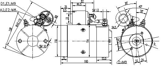 Электродвигатель AMJ5856 (MM 44, 11.216.878, IMM306878) - схема