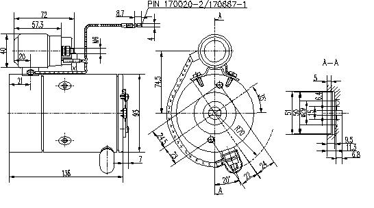 Электродвигатель AMF4682 (MM 97, 11.216.807, IMM306807) - схема