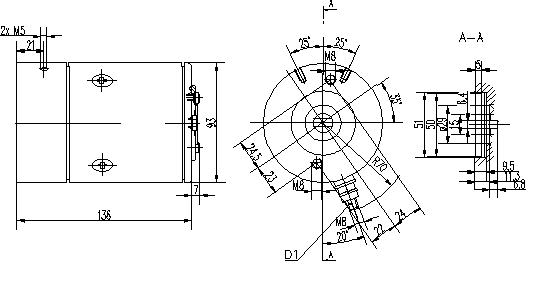 Электродвигатель AMF4683 (MM 99, 11.216.808, IMM306808) - схема