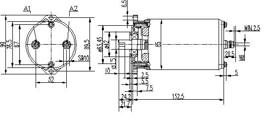 Электродвигатель AME1116 (MM 98, 11.216.684, IMM306684) - схема
